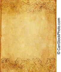 stijl, grunge, papier, oud, achtergrond, victoriaans, ouderwetse