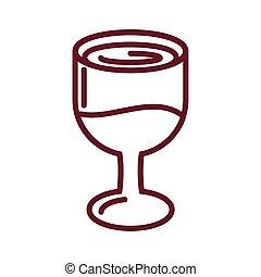 stijl, lijn, ontwerp, wijntje, pictogram, glas