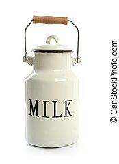 stijl, urn, traditionele , farmer, witte , melk, pot