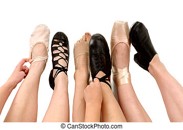 stijlen, dans, schoentjes, voetjes