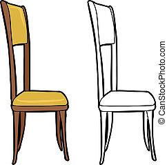 stoel, vrijstaand