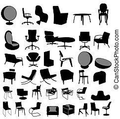 stoelen, verzameling