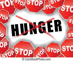 stoppen, honger
