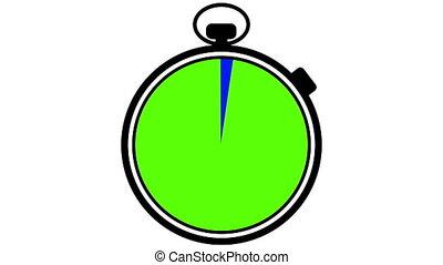 stopwatch, bluescreen, greenscreen