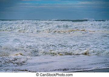 storm, dramatisch, golven