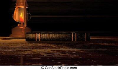 storybook, scherm, oud, groene, hd
