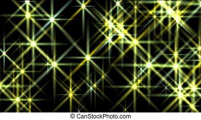 straal, disco, vuurpijl, geel licht, sterretjes