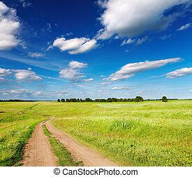 straat, landscape, land