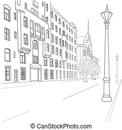 straat, stad