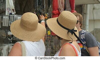 straat, toeristen, winkel