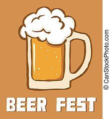 straatfeest, bier, stijl, retro