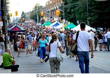 straatfeest, straat