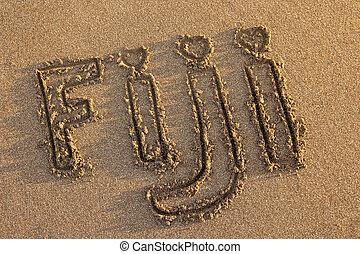 strand, geschreven woord, fiji