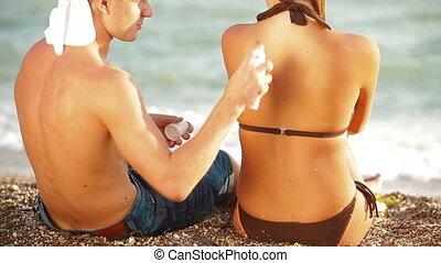 strand, vrolijke , vakantie