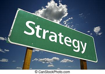 strategie, wegaanduiding