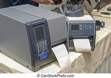streepjescode, etiket, printers