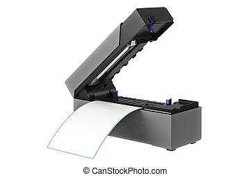 streepjescode, printer, digitale