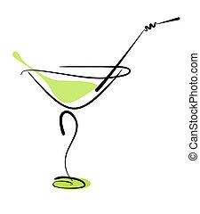 stro, glas, alcohol, cocktail