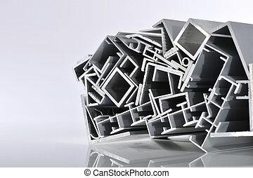 stroken, aluminium, bankstel