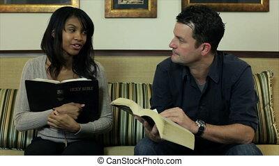 studeren, bijbel, pan