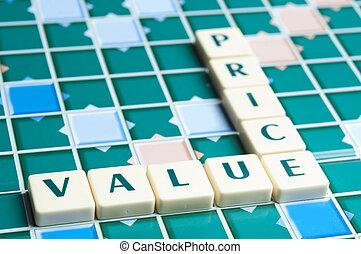 stukken, brief, prijs, gemaakt, waarde, woord