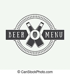 style., logo, ouderwetse , bier