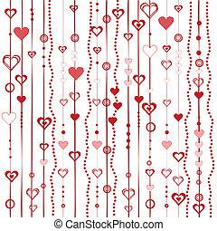 stylized, hartjes, liefde, achtergrond