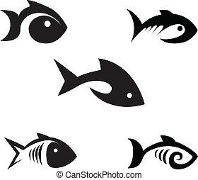 stylized, vissen