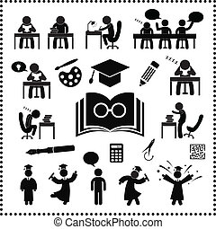 succesvolle , studeren, symbool