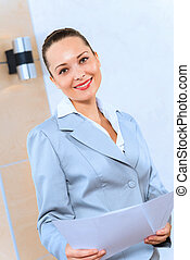 succesvolle , verticaal, vrouw zaak