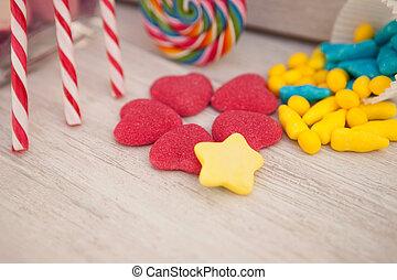 suikergoed, zoet, anderen, hartjes, gevormd