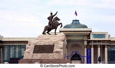 sukhbaatar, plein, aanzicht