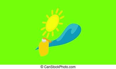 summertime, pictogram, animatie