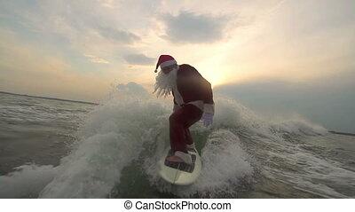 surfboarding, kerstman