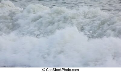 surfing, spumous, zee, golven