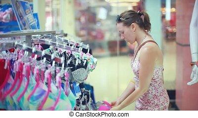 swimsuit., vrouw winkelen, jonge, 1920x1080