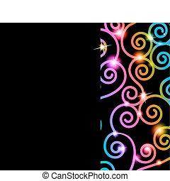 swirls, kleurrijke, kaart