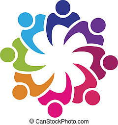 swooshes, vector, teamwork, logo