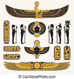 symbolen, decoraties, egyptisch
