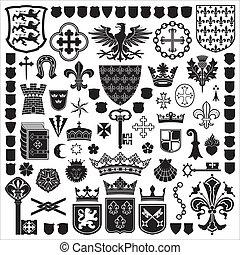 symbolen, decoraties, heraldisch