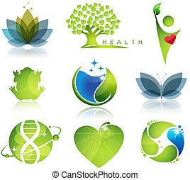 symbolen, gezondheidszorg, ecologie