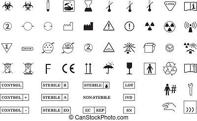 symbolen, internationaal, medisch