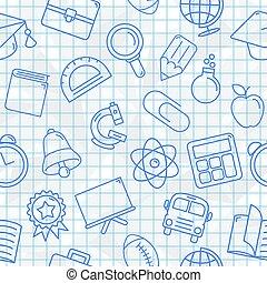 symbolen, model, school, seamless