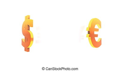 symbolen, valuta, (loop)