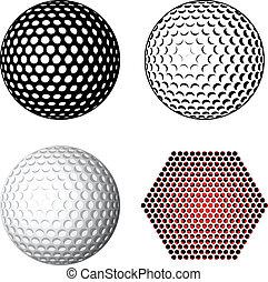 symbolen, vector, golf bal