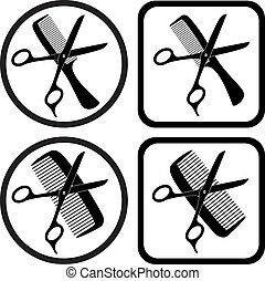 symbolen, vector, kapper