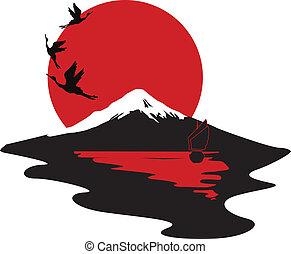 symbolizing, miniatuur, japan