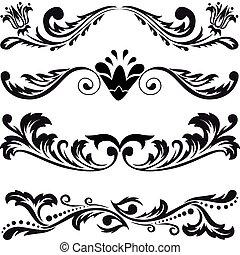 symmetrisch, 3, set, versieringen