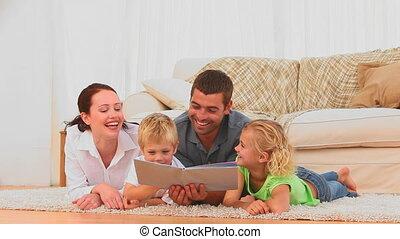 t, het boek van de lezing, samen, gezin