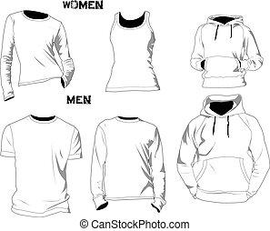 t-shirt, voorbeelden